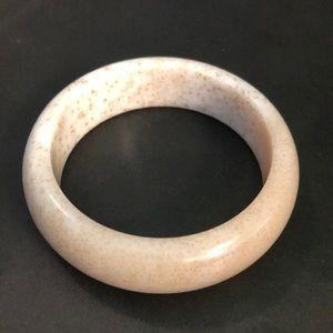 Handcrafted Genuine Hetian Jade Bangle